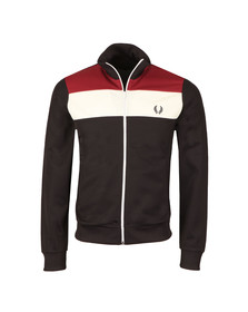 Fred Perry Sportswear Mens Blue Colour Block Track Jacket