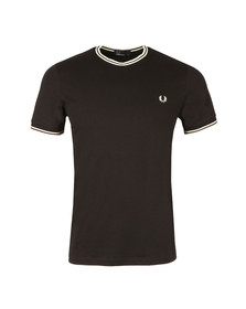 Fred Perry Mens Black Twin Tipped T-shirt