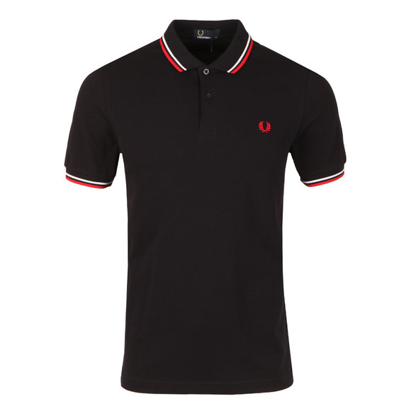 Fred Perry Mens Multicoloured Twin Tipped Polo Shirt main image
