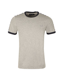 Fred Perry Sportswear Mens Grey Taped Ringer T-Shirt