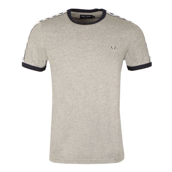 Fred Perry Sportswear Mens Grey Taped Ringer T-Shirt main image