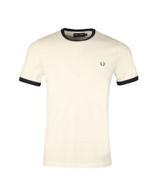 Fred Perry Sportswear Mens White Ringer T-Shirt