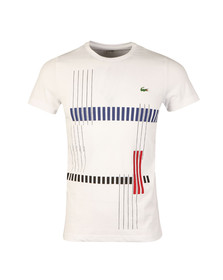 Lacoste Sport Mens White TH7976 Print Tee