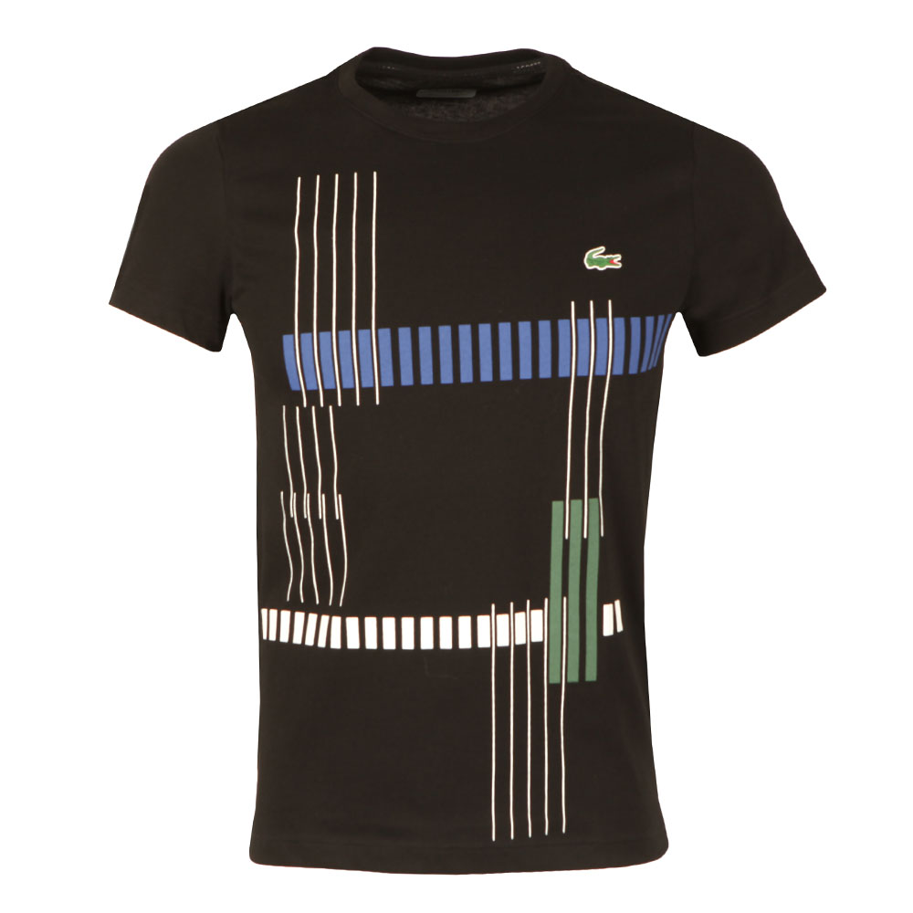 908ccab8 Lacoste Sport Mens Black TH7976 Print Tee