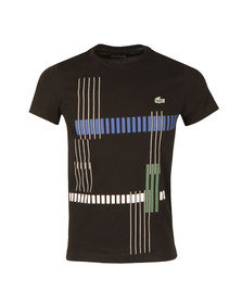 Lacoste Sport Mens Black TH7976 Print Tee