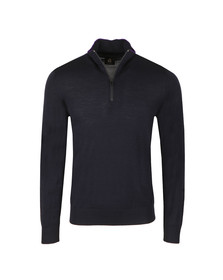Paul Smith Mens Blue 1/2 Zip Jumper