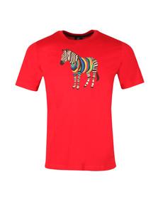 Paul Smith Mens Red Large Zebra T Shirt