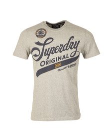 Superdry Mens Grey S/S Quality And Detail Tee