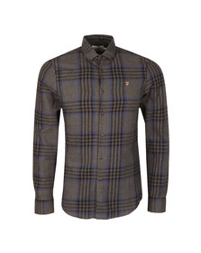 Farah Mens Grey L/S Port Check Shirt