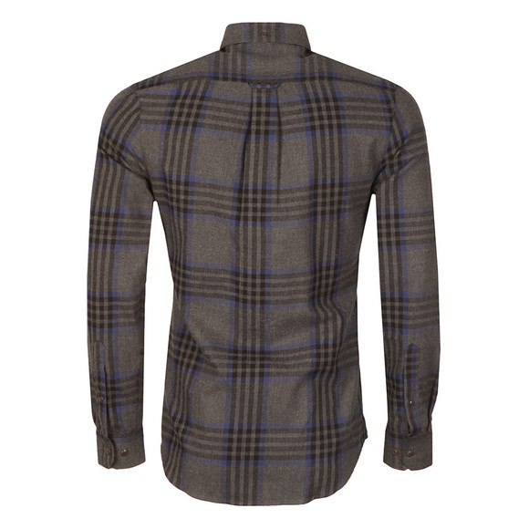 Farah Mens Grey L/S Port Check Shirt main image