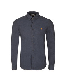 Farah Mens Blue Steen Slim Shirt