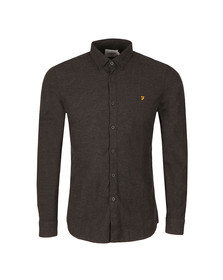Farah Mens Grey L/S Steen Shirt