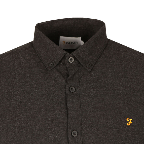 Farah Mens Grey L/S Steen Shirt main image