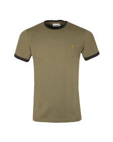 Farah Mens Green Groves Ringer T-Shirt