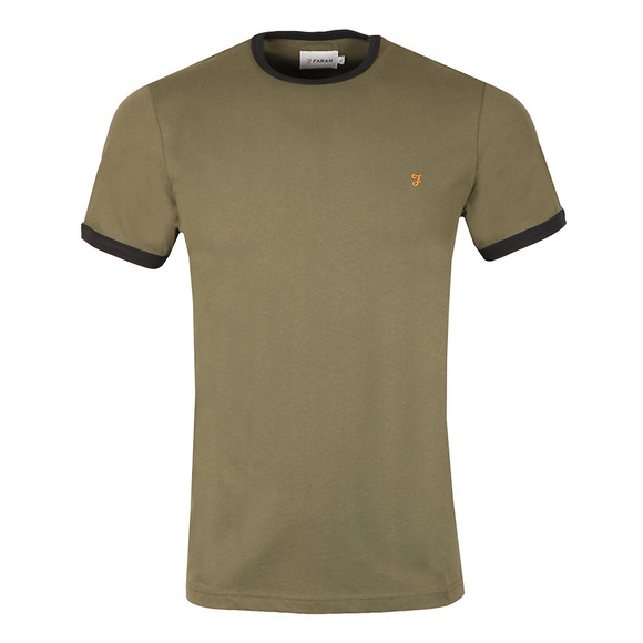 Farah Mens Green Groves Ringer T-Shirt main image