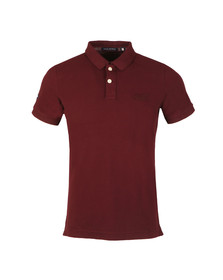 Superdry Mens Red S/S Vintage Destroy Pique Polo