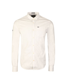 Superdry Mens White L/S Ultimate Oxford Shirt