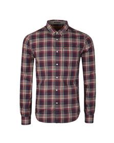 Superdry Mens Blue L/S Raw Washbasket Shirt