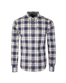 Superdry Mens White L/S Raw Washbasket Shirt