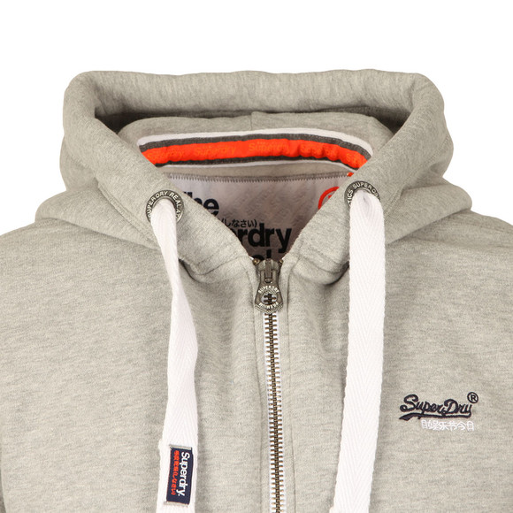 Superdry Mens Grey Orange Label Ziphood main image