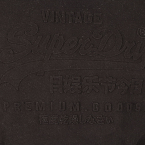 Superdry Mens Black Premium Goods Embossed Hood main image