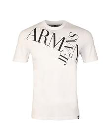 Armani Jeans Mens White 6Y6T14 Logo T Shirt