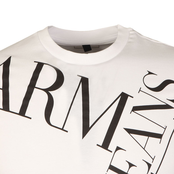 Armani Jeans Mens White 6Y6T14 Logo T Shirt main image