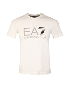 EA7 Emporio Armani Mens White Large Logo T Shirt