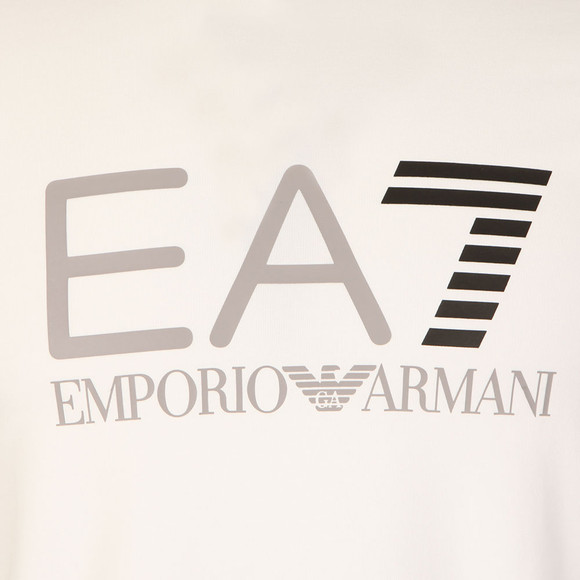 EA7 Emporio Armani Mens White Large Logo T Shirt main image