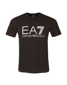 EA7 Emporio Armani Mens Black Large Logo T Shirt