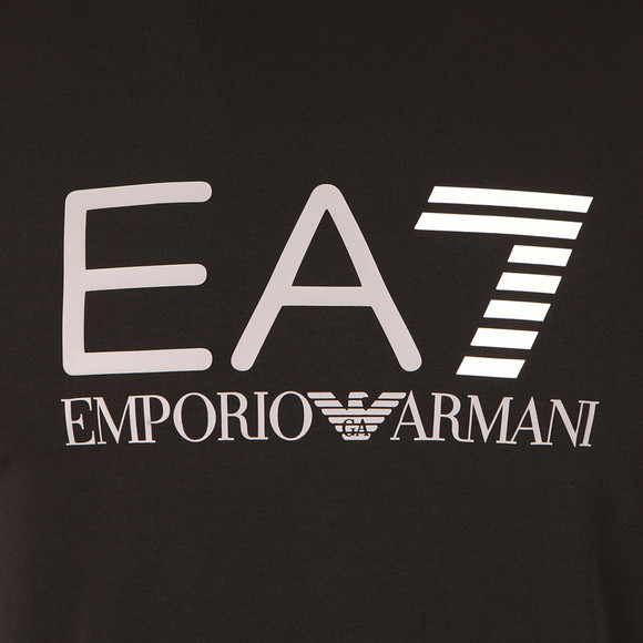 EA7 Emporio Armani Mens Black Large Logo T Shirt main image