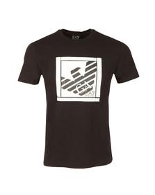 EA7 Emporio Armani Mens Black Large Square Logo T Shirt