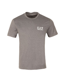 EA7 Emporio Armani Mens Grey Small Logo Crew T Shirt