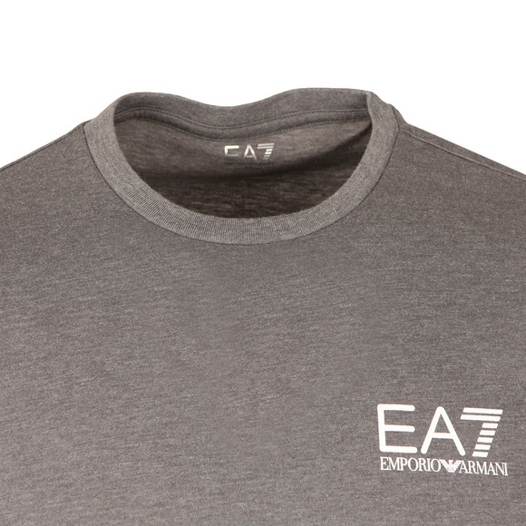 EA7 Emporio Armani Mens Grey Small Logo Crew T Shirt main image