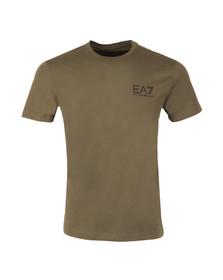 EA7 Emporio Armani Mens Green Small Logo Crew T Shirt