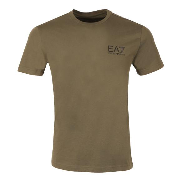 EA7 Emporio Armani Mens Green Small Logo Crew T Shirt main image