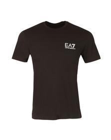 EA7 Emporio Armani Mens Black Small Logo Crew T Shirt