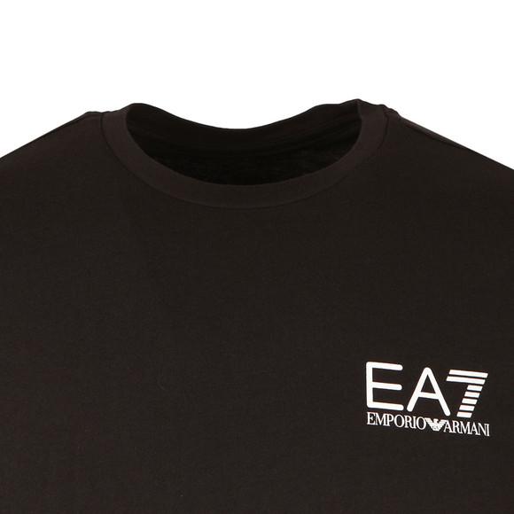 EA7 Emporio Armani Mens Black Small Logo Crew T Shirt main image