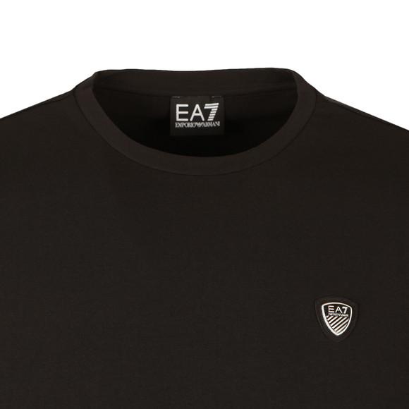 EA7 Emporio Armani Mens Black Small Shield Long Sleeve T-Shirt main image