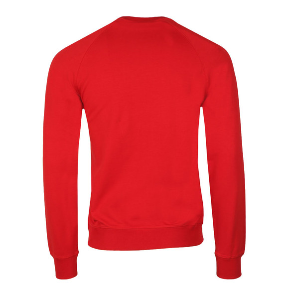 Armani Jeans Mens Red Embossed Logo Sweatshirt main image