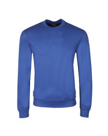 Armani Jeans Mens Blue Tricot Crew  Sweatshirt