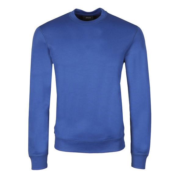 Armani Jeans Mens Blue Tricot Crew  Sweatshirt main image