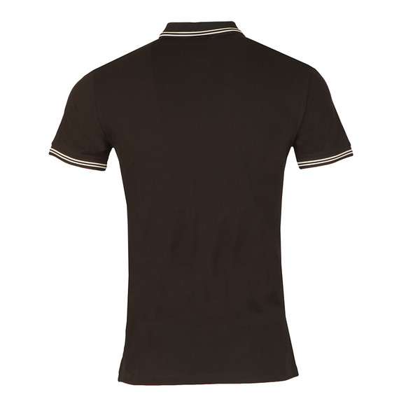 Armani Jeans Mens Black Twin Tipped Polo Shirt main image