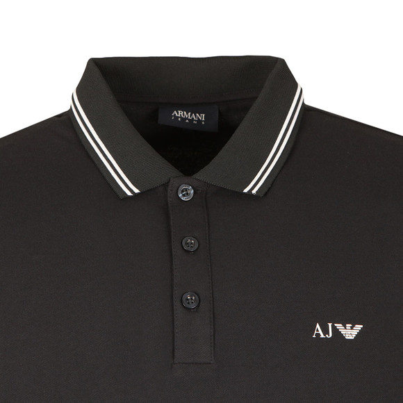 Armani Jeans Mens Blue Tipped Polo Shirt main image