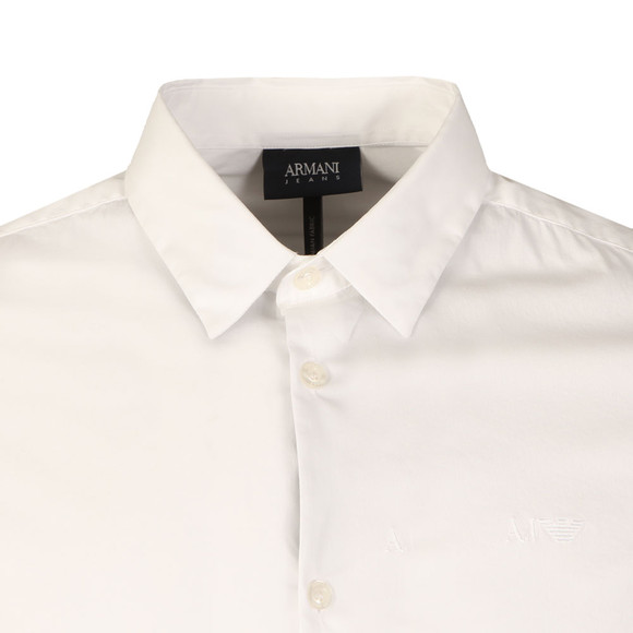 Armani Jeans Mens White Plain Shirt main image