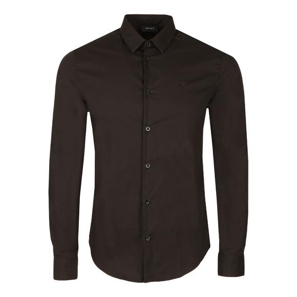Armani Jeans Mens Black Plain Shirt main image