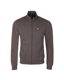 EA7 Emporio Armani Mens Grey Shield Logo Full Zip Sweat