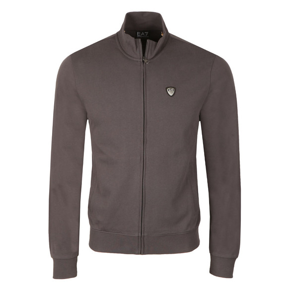 EA7 Emporio Armani Mens Grey Shield Logo Full Zip Sweat main image