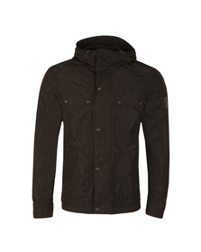 Belstaff Mens Black Ravenswood Hooded Jacket