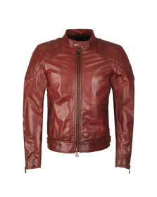 Belstaff Mens Red Outlaw Leather Jacket